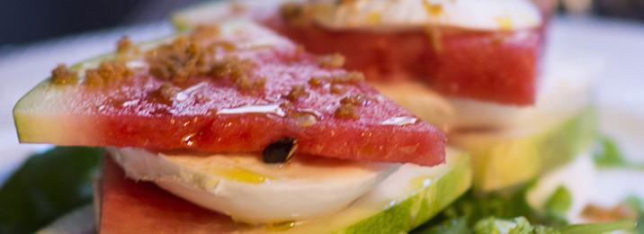 Millefoglie d'anguria - ristoranti Torino